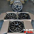 20 Inch Black Machined Wheels Fit Porsche Macan 20x90 20x10 5x112 Mesh Set 4