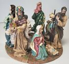 Circular Nativity Set Candle Holders Taper Candles and Votive