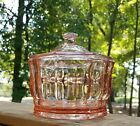 Indiana Glass Pink Candy Dish w/ Lid.