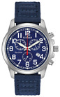 Citizen Eco-Drive Men's Military Stainless Steel Blue Dial Watch AT0200-21L