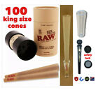Raw king size six cone shooter filler+raw king size cone100 pks+GLASS TIP+TUBE