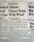 GONE WITH THE WIND Movie Film Premieres in Atlanta GA Georgia 1939 Old Newspaper