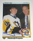 JAROMIR JAGR SIGNED 90-91 UPPER DECK PITTSBURGH PENGUINS ROOKIE CARD AUTOGRAPH!!