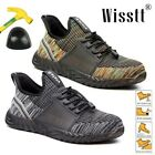 Mens Safety Work Shoes Steel Toe Boots Indestructible Bulletproof Knit Sneakers