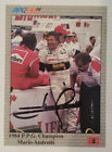 MARIO ANDRETTI **AUTOGRAPHED** 1991 TEXACO A&S RACING COLLECTABLES TRADING CARD