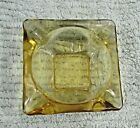 Old Anchor Hocking amber clear gold glass 3-1/2