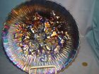 NORTHWOOD CARNIVAL GLASS BLUE POPPY SHOW PLATE