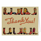 Cowboy Boot Thank You Note Card 4 1 4 x 5 1 2 in 10 Boxed Note Cards 14067