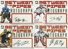 2006-07 IN THE GAME BETWEEN THE PIPES TUUKKA RASK AUTOGRAPH
