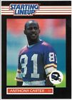 Anthony Carter Starting Lineup Football Card PSA Ready 1989 Mint SLU Kenner