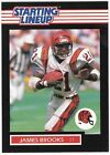 James Brooks Starting Lineup Football Card PSA Ready 1989 Mint SLU Kenner