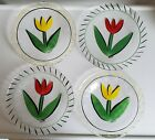 Ulrica Hydman Vallien tulip glass plate set of 4 kosta boda