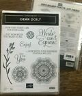 Stampin Up retired DEAR DOILY cling stamps  New DOILY BUILDER DIES Bundle