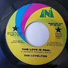 The Lovelites THIS LOVE IS REAL 1970 Soul Funk 45 RPM Promo