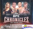 2015 Topps UFC Chronicles MASSIVE Factory Sealed HOBBY Box-5 AUTOGRAPH RELIC