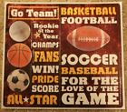 New Sports Soccer Football Basketball Baseball Game Scrapbook 17 Stickers