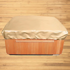Budge P9A16SF1 All Seasons Square Hot Tub Cover 86 Wide Tan