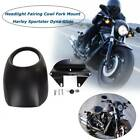 Black Headlight Fairing Mask Fit for Harley Sportster Dyna FX XL883 Racer