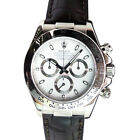 ROLEX - Mens 18kt White Gold Daytona White Index Black Strap - 116519 SANT BLANC