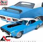 AUTOWORLD AMM1012 118 PLYMOUTH ROAD RUNNER 440 6 PACK BLUE W WHITE TOP