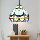 Tiffany Style Stained Glass Ceiling Pendant Light Fixture Single Hanging Lamp