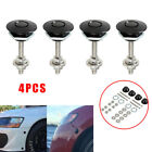 4x Quick Release Latches Push Hood Latch Button Car Pin Bonnet Lock Bumper Clip