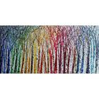 Abstract Seasons Painting Rainbow Colorful Trees on White Large Canvas