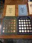 2 SETS 1969 BRASS & SILVER FRANKLIN MINT SUNOCO ANTIQUE CAR COIN COLLECTIONS #1