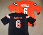 Baker Mayfield 6 Cleveland Browns Mens Brown or Orange Jersey