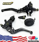 7/8'' Brake Clutch Master Cylinder Reservoir Levers For Yamaha YZF R1 R6 Honda