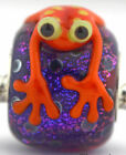 Halloween Frog glass european charm bead Mandy Ramsdell sterling silver lampwork