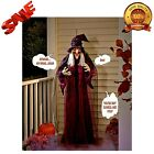 71 Life Size Hanging Animated Talking Witch Halloween Haunted House Prop Decor
