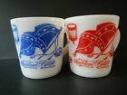 Hazel Atlas Milk Glass Mugs Southland Forever Battle Flag Dixie Song