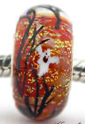 Halloween Forest glass art european charm silver bead Mandy Ramsdell lampwork