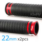 Cyber handlebar grips black TPR +red metal trim 7 8 x2PCS moped bike