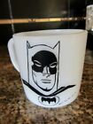 Vintage Westerfield  Batman 2 sided White Milk Glass Coffee Mug Cup Heat Proof