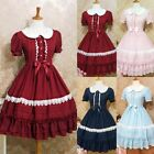 Womens Lolita Dresses Vintage Collage Style Halloween Cosplay Ball Gown Dress