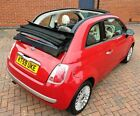 2009 59 FIAT 500C LOUNGE CONVERTIBLE HALF LEATHER AIR CON DRIVES SUPERB