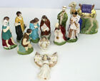 Vintage 1950s Holland Mold 11 pc Hand Painted Glazed Nativity Set