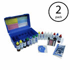 Taylor Deluxe Complete High Swimming Pool Spa Multiple Test Kit w Case 2 Pack