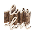 15pcs Wooden LOVE Table Confetti Scatter Vintage Rustic Wedding Party Decor IF