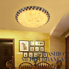 Tiffany Style Stained Glass Flush Mount Light Indoor Retro Ceiling Lamp Fixture