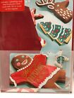 SUPER CUTE Starbucks 2017 GINGERBREAD Man gift card set NEW perfect