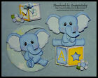 Baby Boy elephant Premade Paper piecing set by scrappintoday