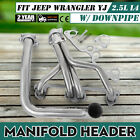 Stainless Manifold Header With Downpipe For 91 95 Jeep Wrangler YJ 25L L4