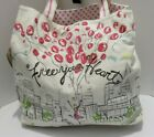 Brighton Free Your Heart Tote Multi Color Canvas New Retail 10000