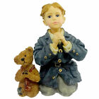 Boyds Bears Resin PETER W/ JAMES THE PRAYER Dollstone Boy Limited Edition 354506