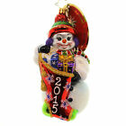 Christopher Radko A YEARS TO GIVE Snowman Dated 2015 Ornament 1017772