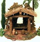 KMART TRIM A HOME SHEPHERDS 5PC SHED HUT NATIVITY FOR USE w 5 FONTANINI MIB
