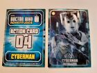 Doctor Who Adventures Action card 04 Cyberman 3D Holographic Trading Card